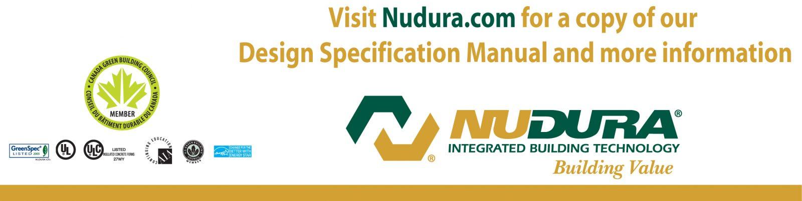Visit Nudura.com for Design Specification manual