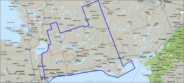 Ontario ICF Territory Map